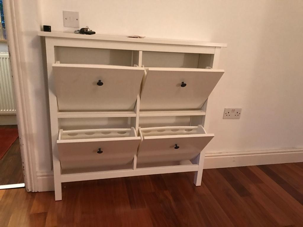 ikea hemnes shoe cabinet with 4 compartments
