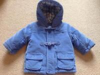 Blue baby duffle coat 6months