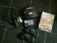 SEGA MEGA DRIVE ARCADE CLASSIC INCL 20 BUILD IN GAMES AND 40 EXTRA ON CARTRIDGE