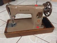 Singer 201K sewing machine sews all materials inc leather
