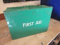 Metal vintage first aid box