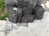Reclaimed slate roofing tiles