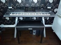 Yamaha Tyros 5 76 note keyboard workstation with speakers, stand, 1GB expansion memory and lots more