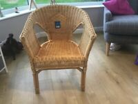 Honey coloured Rattan Chair