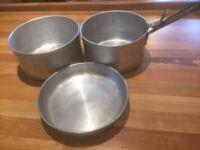 Set of Aluminium Camping Cooking Pans