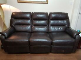 Brown Leather Recliner Sofa 2&3