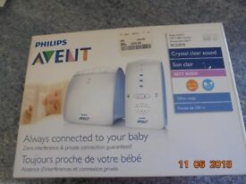 PHILLIPS AVENT DECT BABY MONITOR SCD510
