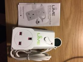 Lime energy saving remote controlled power socket plug brand new rrp:£20