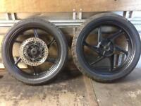 Honda cbf 125 front and rear wheels £80