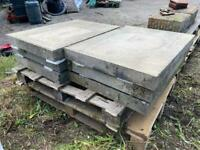 Set of 6 large heavy stone block / slabs - approx 2ft x 31 inch