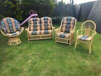 Full set of Cane Conservatory Furniture/Sunroom