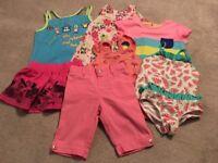 girls summer bundle 12-24m