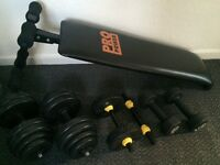 Weights and decline bench for only £35