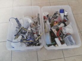 2 boxes of screws,nuts bolts, diy parts, some tiling tools.