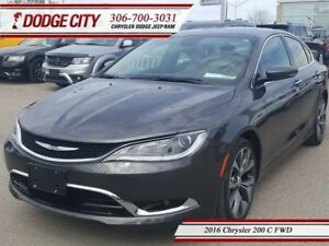 2016 Chrysler 200 C   FWD - Heated Seats, Backup Cam, Remote Sta