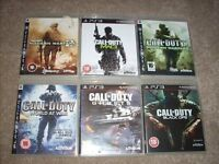 PS3 Playstation Games Bundle - Call of Duty COD x 6 off - ONLY £9