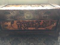 Oriental Style Wooden Box