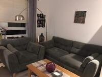 Retro style 3 seater sofa and an armchair