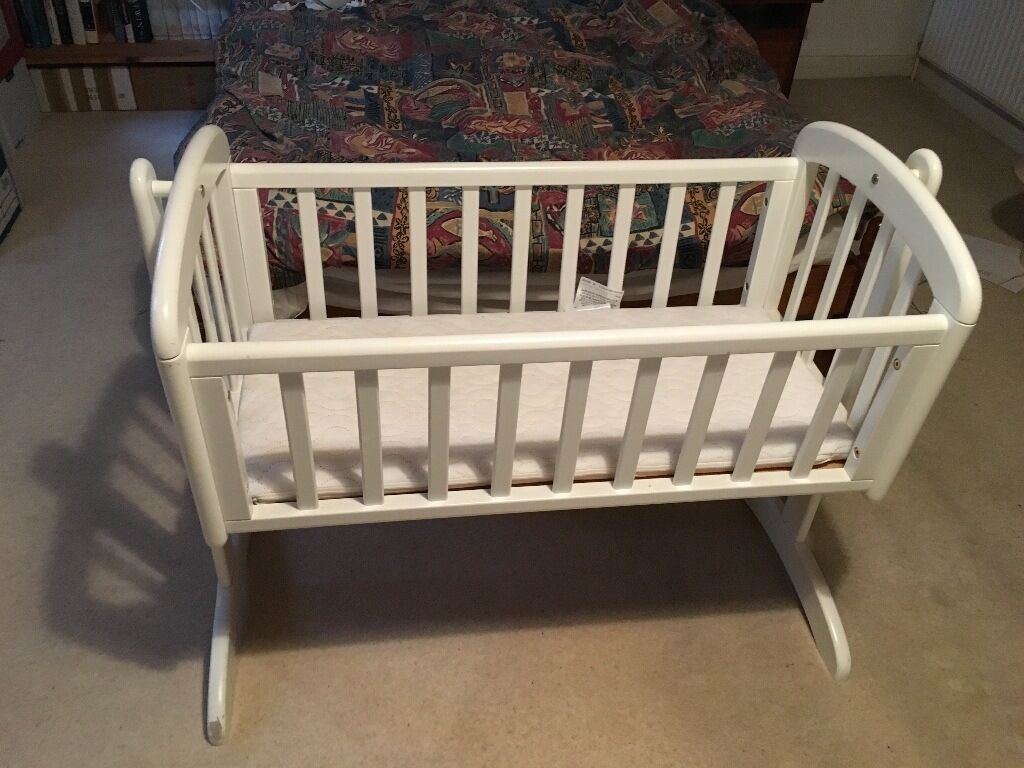 Baby cribs john lewis - John Lewis Anna Swinging Crib Includes Mattress Ideal For Lulling Young Babies To Sleep
