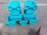 7 blue Storage boxs