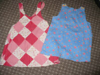 Bundle of 4 dresses for girl 9-12mths/ 9-12 mths. In very good and good condition.