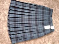 Pleated plaid skirt size 14 brand new