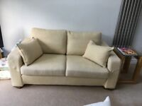 Multiyork Sofa. Pristine Condition. 2 seater. Beige/Barley colour