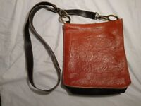 small brown leather bag hand made in Italy