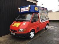 Ford Transit Hard Ice Cream Van - Scoop Icecream Van - Full MOT - M Reg