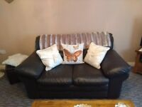 3 seater and 2 chairs leather suite