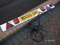 4'6'' Trailer board with fog light and 6mtrs cable