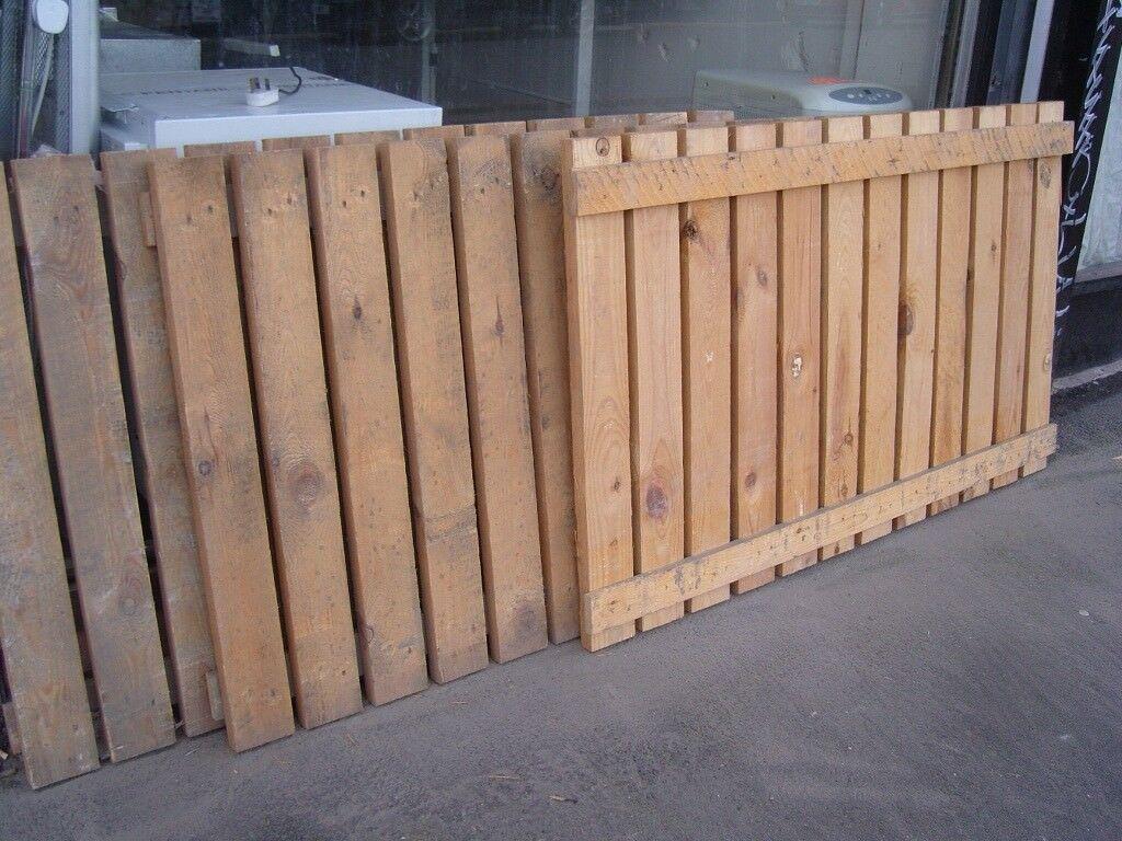 Heavy Duty Solid Wood Fencing Panels Fence 143 Cm X 90