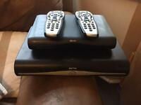 2 Sky HD boxes with remotes used for 1 year