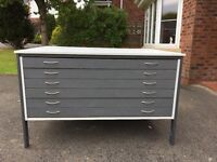 6 Drawer Plan Chest / Architect Drawers / Flat File Size A0 (2 Available)