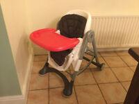 silver cross adjustable high chair