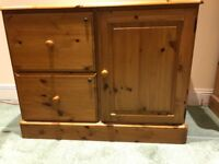 Ducal Pine Integrated Filing Cabinet and Cupboard