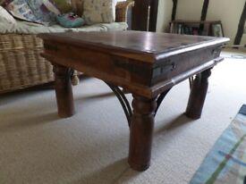 Jali sheesham square coffee table