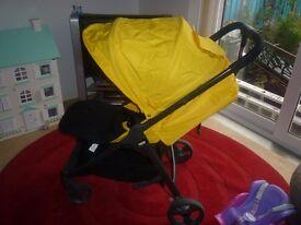 Mamas & papas Armadillo yellow pushchair includes raincover
