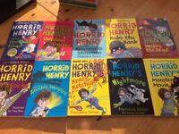 Horrid Henry (by Francesca Simon) - 10 books excellent condition