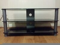 BLACK GLASS TV STAND EXCELLENT CONDICTION!