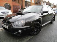 2003 BLACK SUBARU IMPREZA WRX 2.0 TURBO AWD FSH, MOT DEC, HPI CLEAR, ANGEL EYES, FINE DRIVE £3250