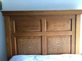 Beautiful solid oak single headboard