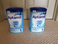 2 boxes of Bband new unopened Aptamil first infant milk powder, 900g