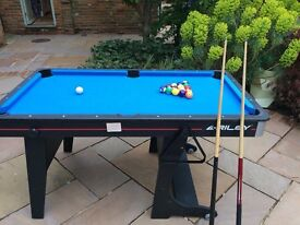 Riley 5ft blue foldable pool table