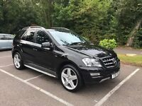 "2011 Mercedes ML 350 CDI Grand Edition - Sat Nav/Command, 21"" AMG Alloys, Black Leather, FMBSH"