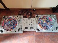 """2 X Numark TT1610 Turntables + Gemini PS-540i Stereo Mixer (12"""" Record Player / DJ Decks)"""