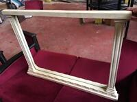 Large Marble Effect Mantel Mirror