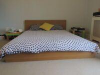 MALM king size bedframe and mattress