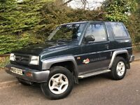 1995 DAIHATSU SPORTRAK ELX, 4x4, 1.6 Engine, Sunroof, New Mot, Low Mileage.