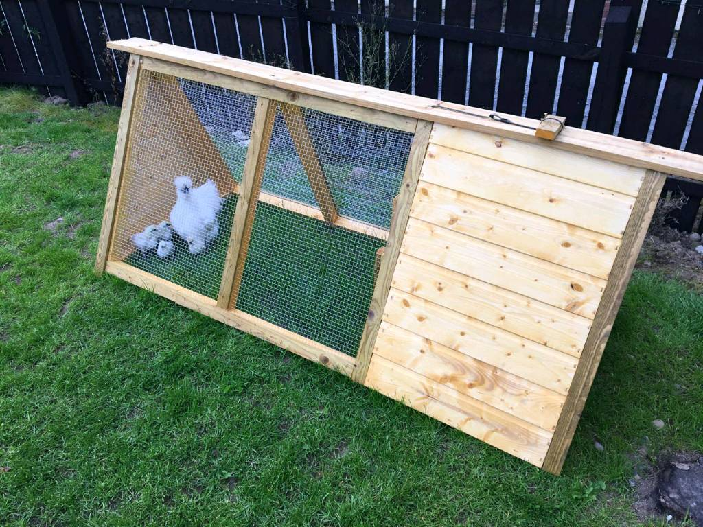 Wooden hen house cage